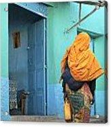 Street In Harar Ethiopia  Acrylic Print