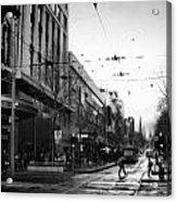 Street In Melbourne  Acrylic Print
