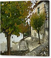 street in old Albaycin in Granada Acrylic Print