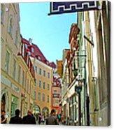Street In Old Town Tallinn-estonia Acrylic Print