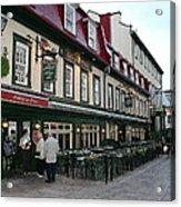 Street In Quebec Acrylic Print