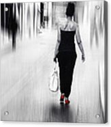 Street Lady Acrylic Print