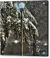 Street Lamp In The Snow Acrylic Print