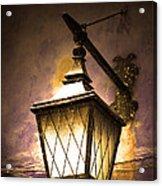 Street Lamp Shining Acrylic Print