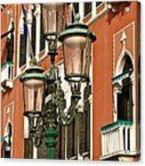 Street Lamps Of Venice Acrylic Print