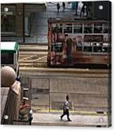 Street Life In Hong Kong Acrylic Print