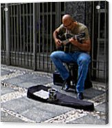 Street Musician - Sao Paulo Acrylic Print