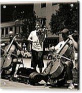 Street Musicians 2 Acrylic Print