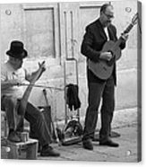 Street Musicians In Avignon Acrylic Print