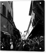 Street Of Florence Acrylic Print