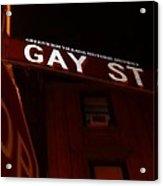 Street Of Pride Acrylic Print