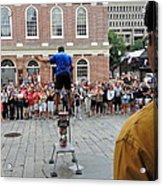Street Performer Faneuil Hall Market Boston Acrylic Print