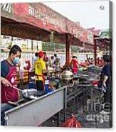 Street Restaurant In Phnom Penh Cambodia Acrylic Print