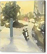 Street Scene Impression Acrylic Print