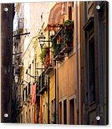 Street Scene In Italy Acrylic Print