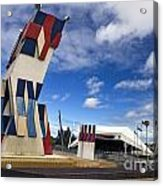 Street Sculpture In Front Of The Adelaide Festival Center Acrylic Print