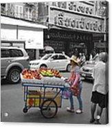 Street Seller Acrylic Print