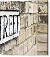 Street Sign Acrylic Print