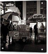 Street Vendor Row Acrylic Print