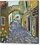 Street View In Pula Acrylic Print