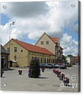 Street View. Silute Lithuania May 2011 Acrylic Print