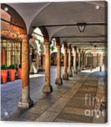 Street With Arches And Columns Acrylic Print