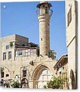 Street With Minaret In Tel Aviv Israel Acrylic Print