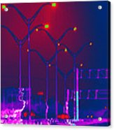 Streetlight Serenade 1 Acrylic Print by Wendy J St Christopher