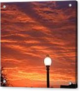 Streetlight Sunset Texas Acrylic Print