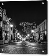 Streets Before Christmas Acrylic Print