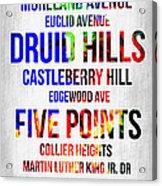 Streets Of Atlanta 1 Acrylic Print