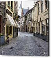 Streets Of Bruges Acrylic Print