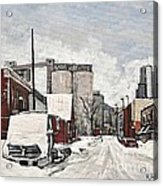 Streets Of Montreal Pointe St. Charles Acrylic Print