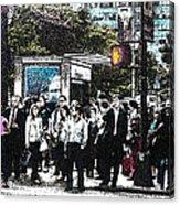 Streets Of New York City 17 Acrylic Print by Mario Perez