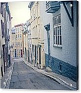Streets Of Old Quebec City Acrylic Print