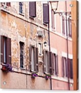 Streets Of Rome Acrylic Print