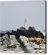 Streets Of San Francisco With Coit Tower Acrylic Print