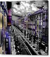 Streetwise In Spain Acrylic Print by Cary Shapiro