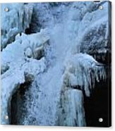 Strength Of Water And Ice Acrylic Print