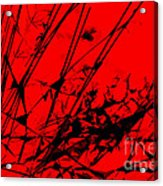 Strike Out Red And Black Abstract Acrylic Print