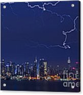 Strikes And Bolts In Nyc Acrylic Print