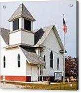 Stringtown Community Church Acrylic Print