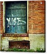 Strip District Doorway Number 1 Acrylic Print by Amy Cicconi