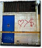 Strip District Doorway Number Fout Acrylic Print by Amy Cicconi