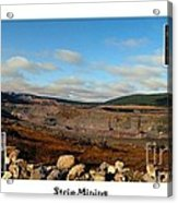 Strip Mining - Environment - Panorama - Labrador Acrylic Print