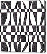 Striped Acrylic Print