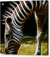 Striped Fractal Acrylic Print