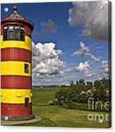 Striped Lighthouse Acrylic Print