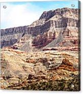 Striped Mountains Acrylic Print