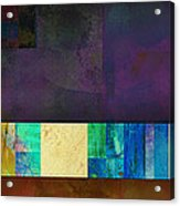 Stripes And Squares - Abstract -art Acrylic Print by Ann Powell
